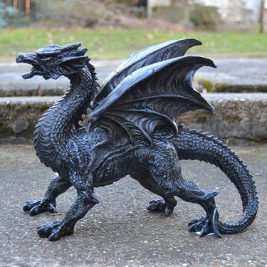 Socha exclusive mytology - Černý drak - 31 cm  - 2