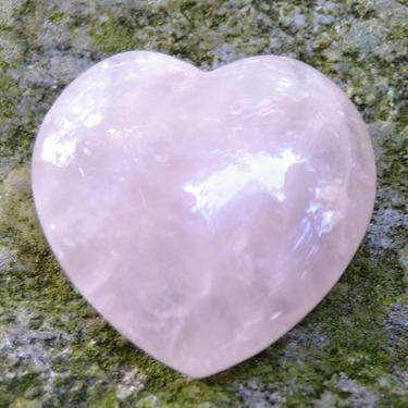Růženín - broušené srdce 40 mm  - 2