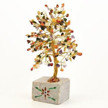 Stromeček štěstí - Mix polodrahokamů, 320 kamínků  - 2