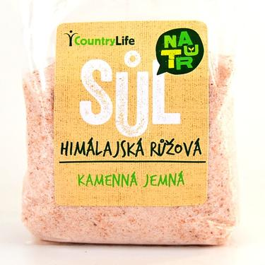 Country Life Sůl himalájská růžová jemná 500 g  - 2