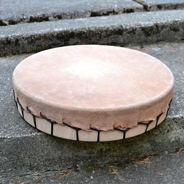 Šamanský buben Trans, silná hovězí kůže 42 cm  - 2