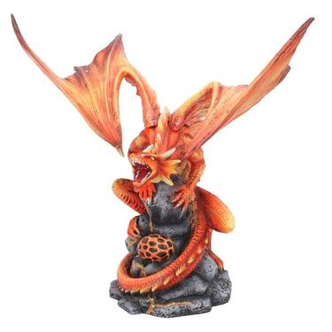 Socha fantasy exclusive - Velký ohnivý drak  - 2