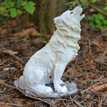 Fantasy soška Sněžný vlk - sedící  - 3