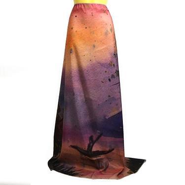 Šátek - přehoz akvarel - Převozník  - 3