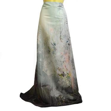 Šátek - přehoz akvarel - Sakurový háj  - 3