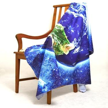 Šátek - přehoz Modrá planeta  - 3
