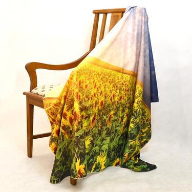 Šátek - přehoz Pole slunečnic  - 3