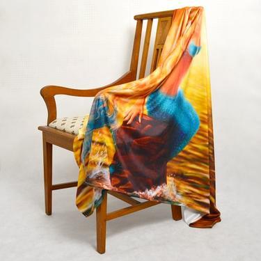 Šátek - přehoz Mořská panna  - 3
