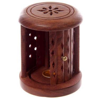 Stojánek na vonné kužely - Dřevěná klec  - 3