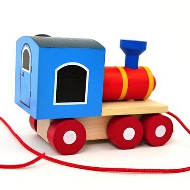 Dřevěná hračka - Krteček a mašinka  - 3