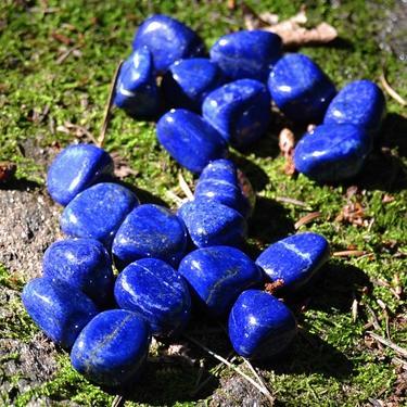Lapis lazuli AA kvalita tamblovaný, velikost S - M  - 3