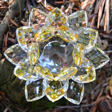 Sluneční Lotos z křišťálového skla velký  - 3