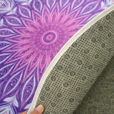 Meditační kobereček Fialová Mandala kulatý, 80 cm  - 3