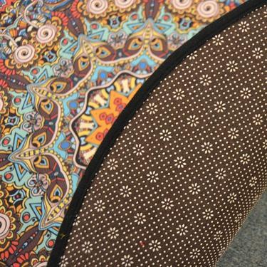 Meditační kobereček Mandala Hvězda kulatý, 80 cm  - 3