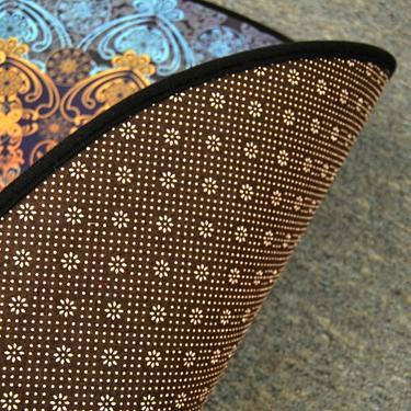 Meditační kobereček Modrá Mandala kulatý, 80 cm  - 3