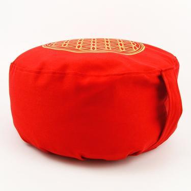 Meditační polštář Květ Života červený  - 3