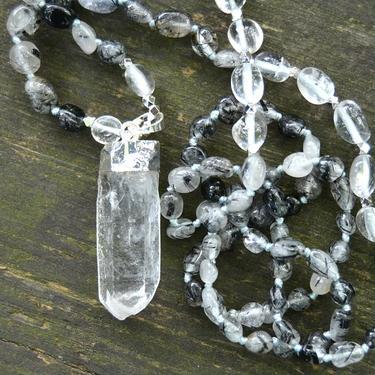Náhrdelník Křišťál s turmalínem, krystal křišťálu  - 3