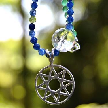 Náhrdelník Následuj svou Hvězdu - Olivín, kyanit  - 3