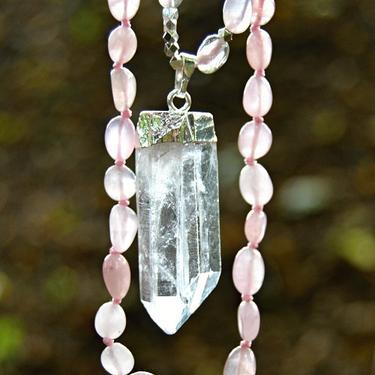 Náhrdelník Růženín, křišťál krystal  - 3