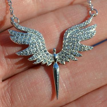Náhrdelník Bílý Anděl, stříbro Ag 925/1000  - 3