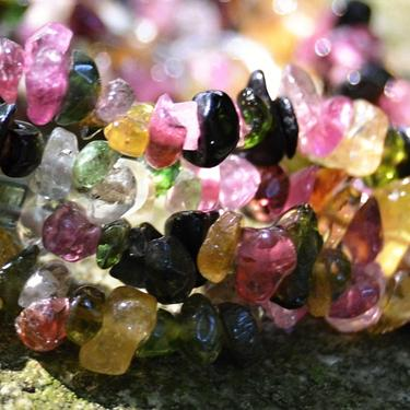 Náhrdelník Turmalín barevný drobné kamínky 45 cm  - 3