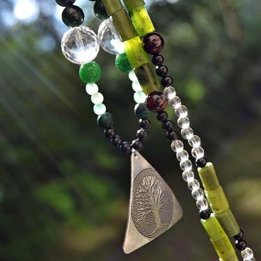 Náhrdelník Zelené Srdce Přírody - nefrit, turmalín  - 3