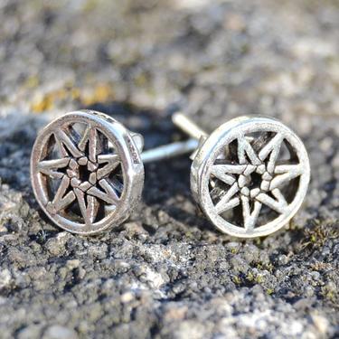 Náušnice Sedmicípá Hvězda, stříbro Ag 925/1000  - 3