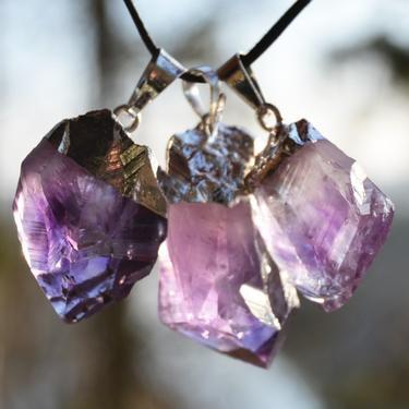 Přívěsek ametyst krystal galvanica  - 3