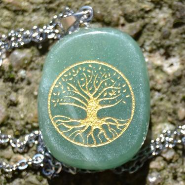 Přívěsek Strom Života, zelený aventurín  - 3