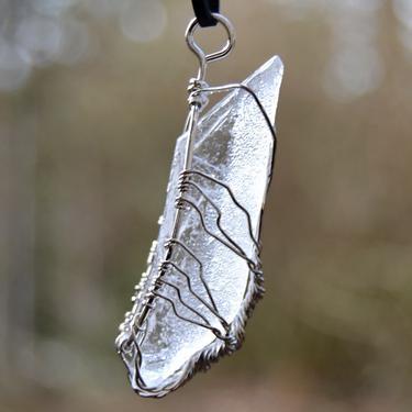 Přívěsek Křišťál krystal ve stromě, drátkovaný  - 3