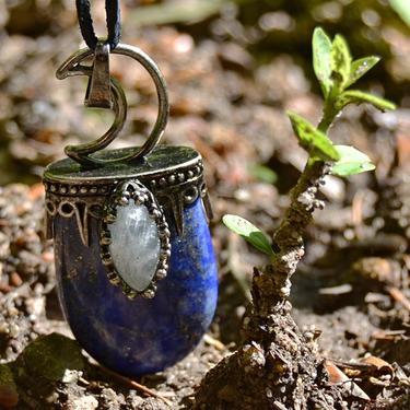 Přívěsek Královna noci - Lapis lazuli, labradorit  - 3