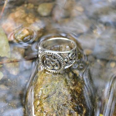 Prsten Óm velký, stříbro Ag 925/1000 vel. 56  - 3