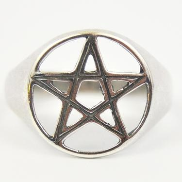 Prsten Pentagram stříbro Ag 925/1000 - vel. 60  - 3