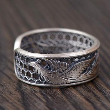 Stříbrný prsten s Fénixem  - 3