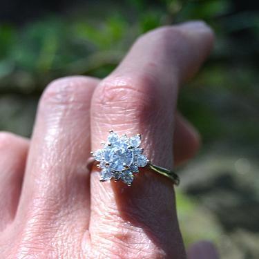 Prsten Vločka sněhu - velikost 56  - 3