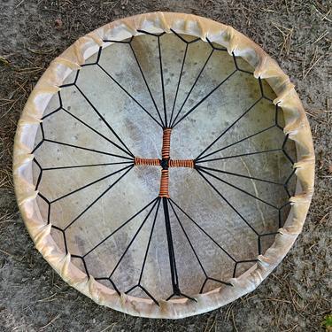 Šamanský buben z jelenice 52 cm  - 3