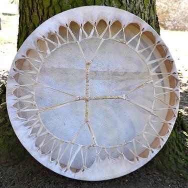 Šamanský buben malovaný 50 cm - Duch Přírody  - 3