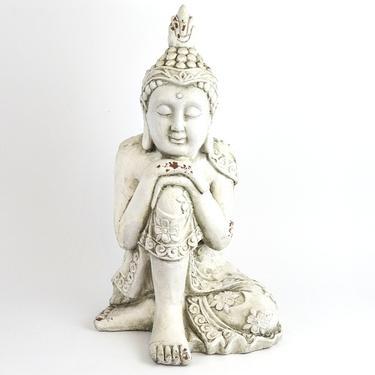 Socha Bílý Buddha Osvícený 55 cm  - 3