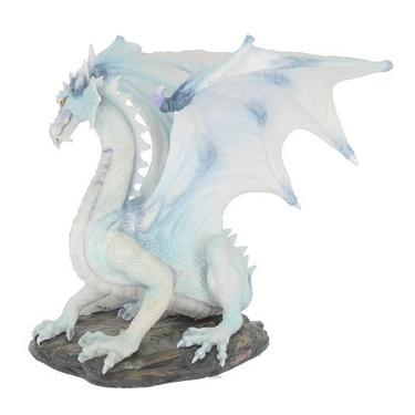Socha fantasy exclusive - Velký sněžný drak  - 3
