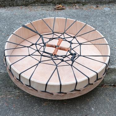 Šamanský buben Trans, silná hovězí kůže 42 cm  - 3