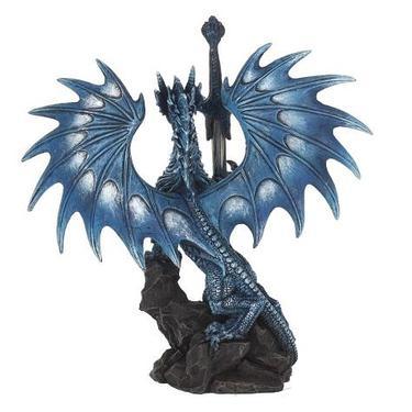 Socha fantasy exclusive - Velký mořský drak  - 3