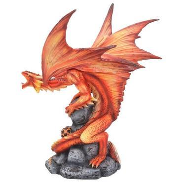 Socha fantasy exclusive - Velký ohnivý drak  - 3