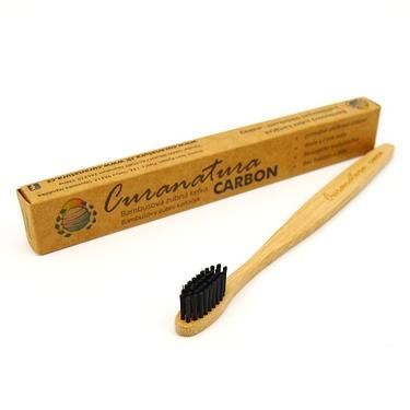 Curanatura Carbon kartáček na zuby bambus - soft  - 3