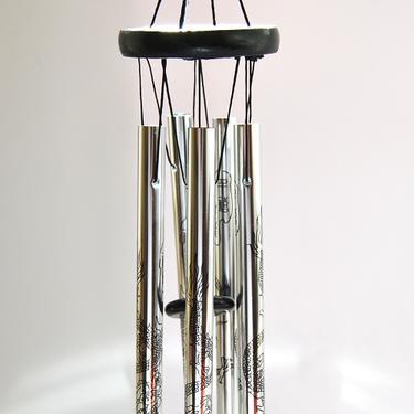 Čínská zvonkohra Mocní Draci, barva stříbrná  - 3