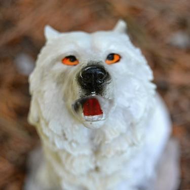 Fantasy soška Sněžný vlk - sedící  - 4