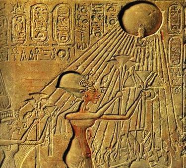 Faraonský náhrdelník - Zlatý Anch Sluneční  - 4