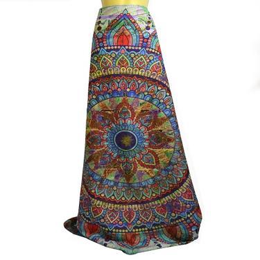 Šátek - přehoz Duhová mandala 200 x 150 cm  - 4