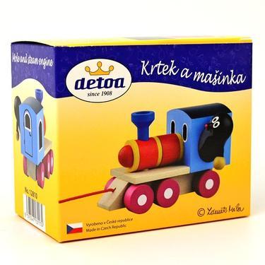 Dřevěná hračka - Krteček a mašinka  - 4