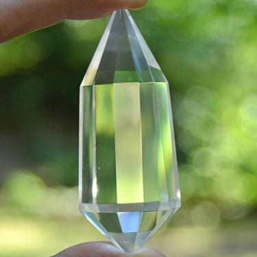 Broušená krystalová hůlka - Křišťál extra 66 g  - 4