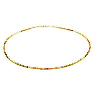 Náhrdelník Granát hessonit Extra microrondely  - 4